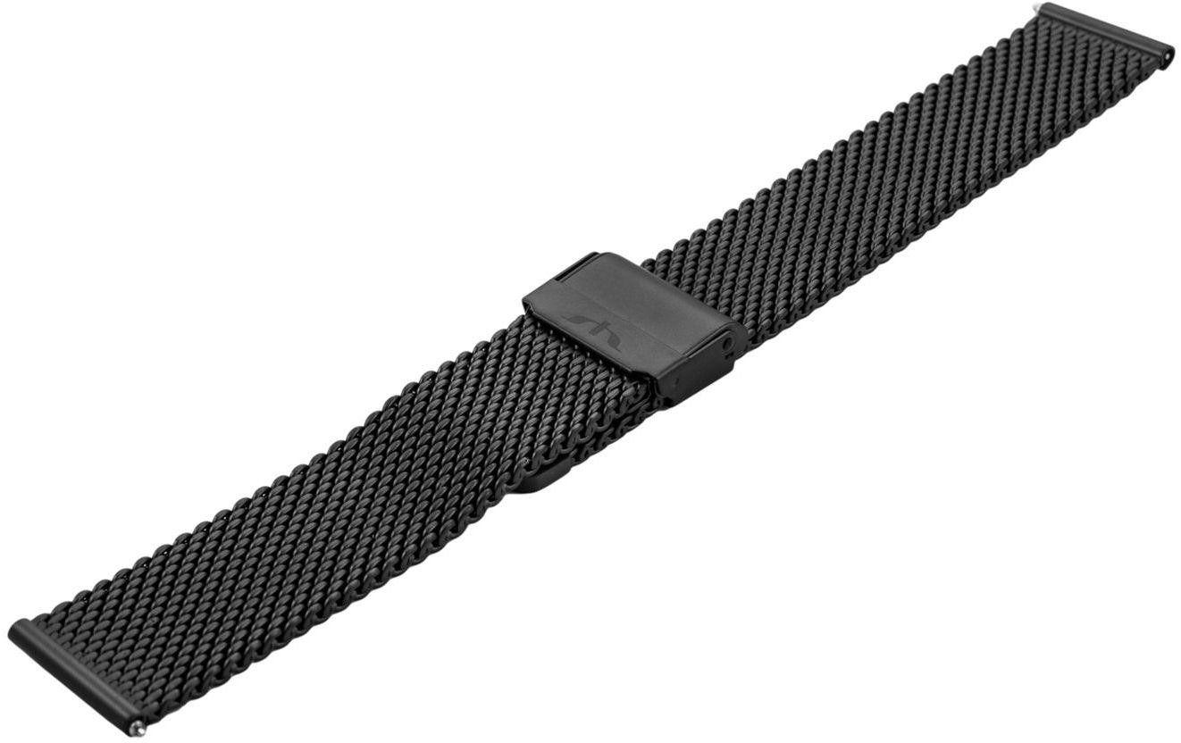 Bransoleta stalowa do zegarka 18 mm Bisset BM-102/18 Black Mat