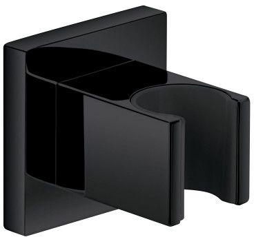Uchwyt punktowy 5x5cm mosiężny,czarny półmat