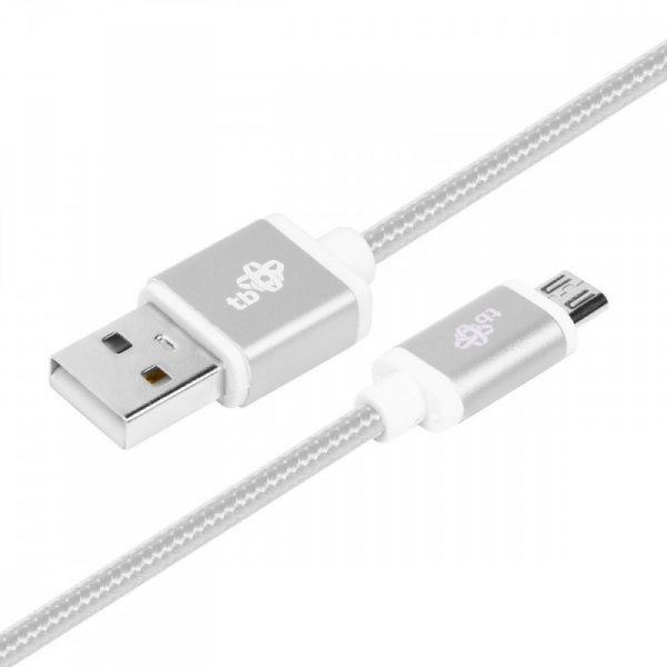 TB Kabel USB-Micro USB 1.5 m srebrny sznurek