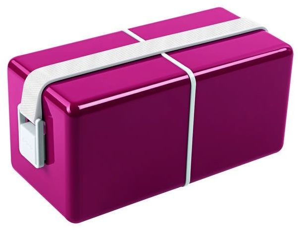 Guzzini - on the go - lunch box o eat, ciemnoróżowy - różowy