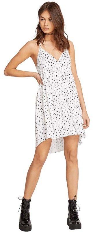 sukienka VOLCOM - Vol Dot Com Dress White (WHT