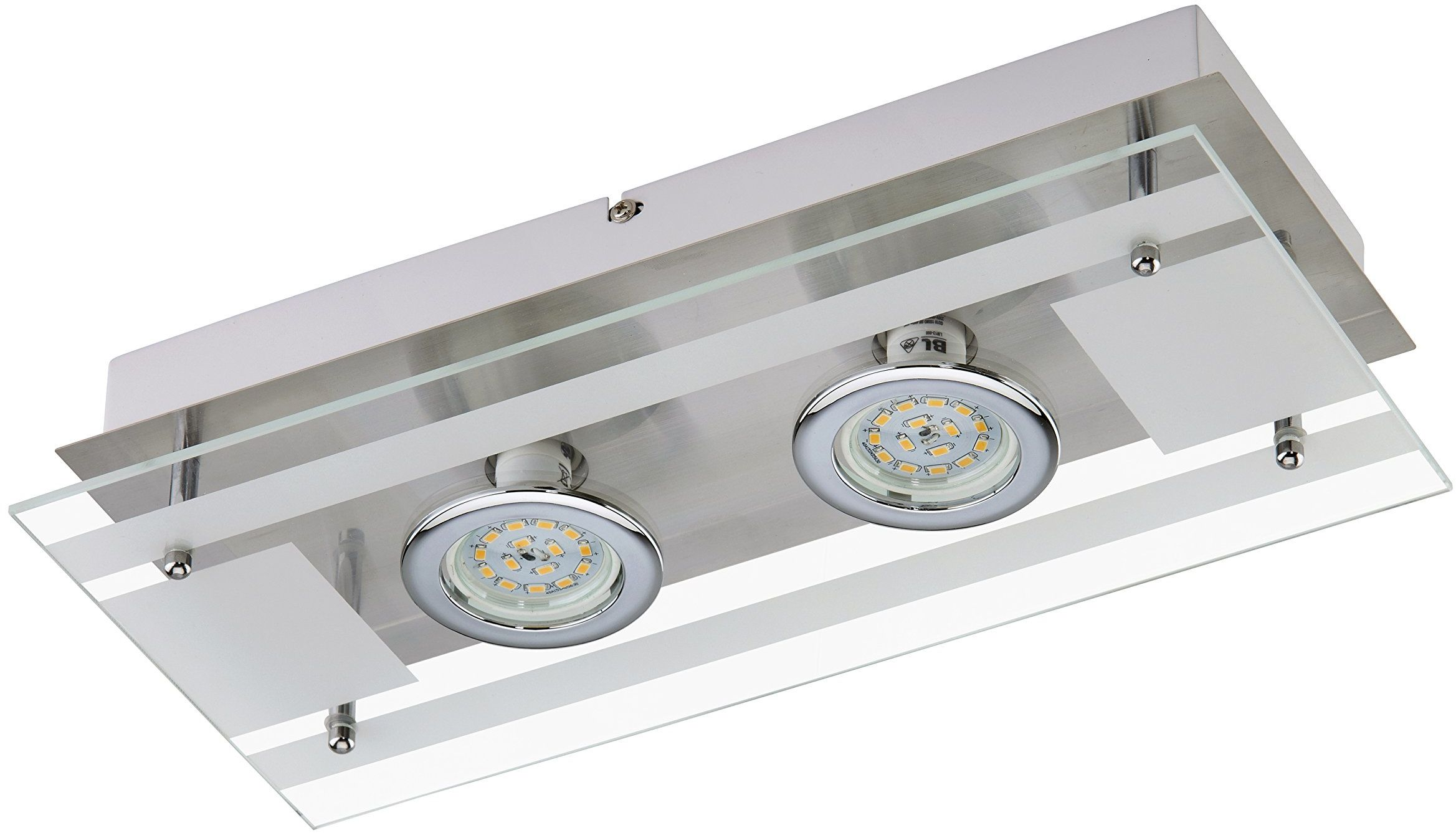 Briloner Leuchten Lampa ścienna LED 2 x 5 W, 400 lm, matowy nikiel 3552-022 2 37x17,5