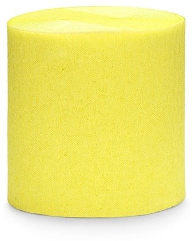 Krepa dekoracyjna żółty 5cm 10m 4 szt. KREP1-084