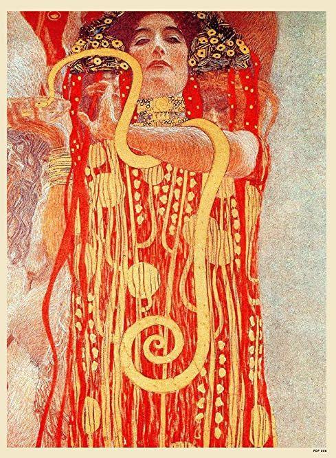 Gustav Klimt Higieia Art nouveau plakat artystyczny wydruk 40 x 30 cm (PDP 008)