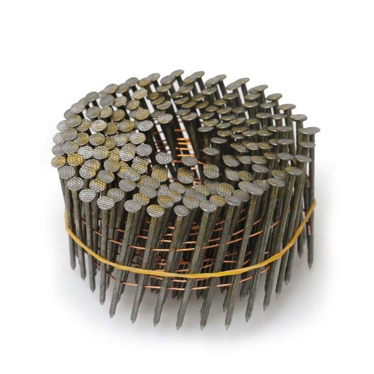 PANSAM Gwoździe stolarskie bębnowe, gwoździe na taśmie 2.1x50mm, 6000szt (20rolek) (A536650)