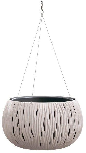 Doniczka z wkładem Sandy Bowl wisząca 37 cm mocca