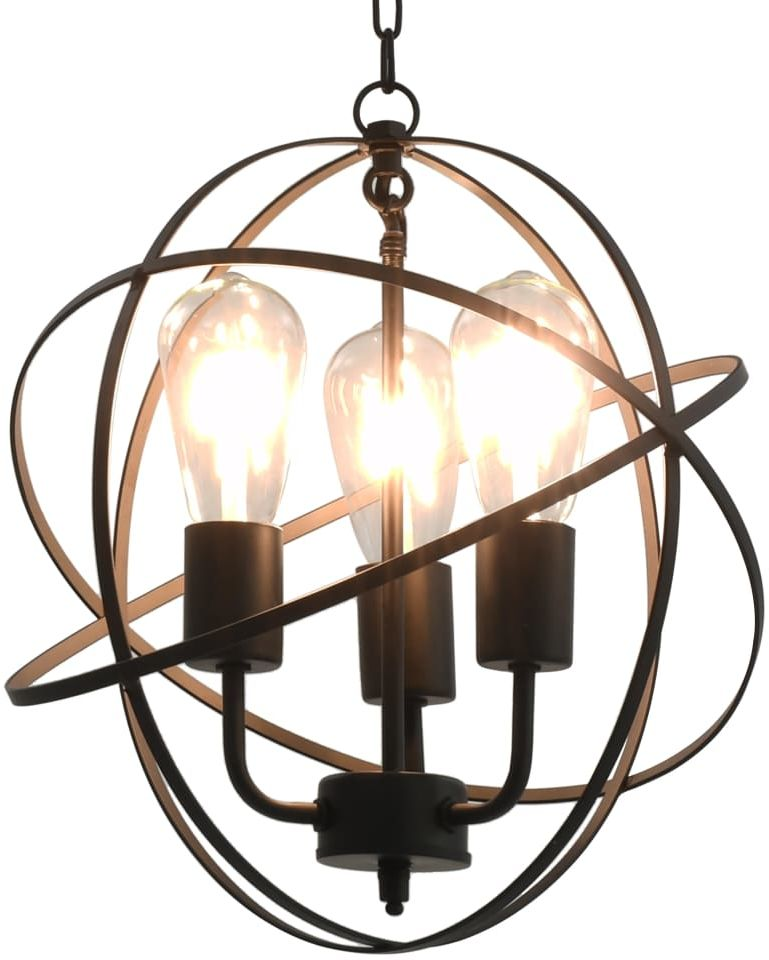 Czarna industrialna lampa wisząca okrągła - EX174-Wella