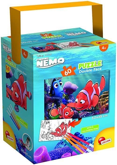 Liscianigiochi 86184 Disney a Tub Mini 60-Nemo puzzle dla dzieci, wielokolorowe