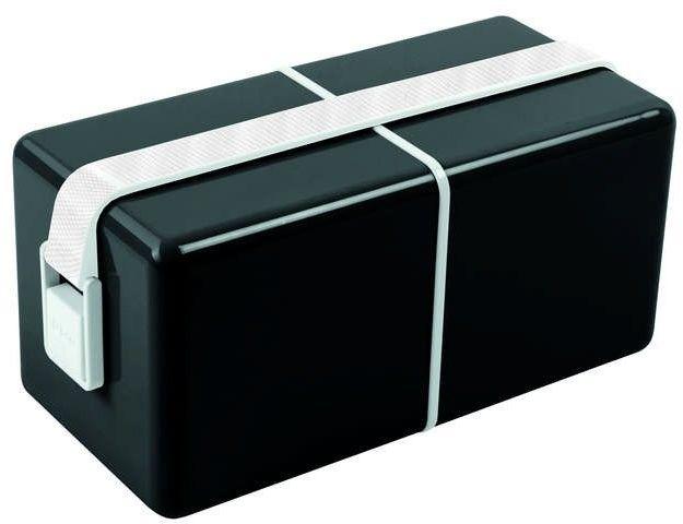Guzzini - on the go - lunch box o eat, czarny - czarny