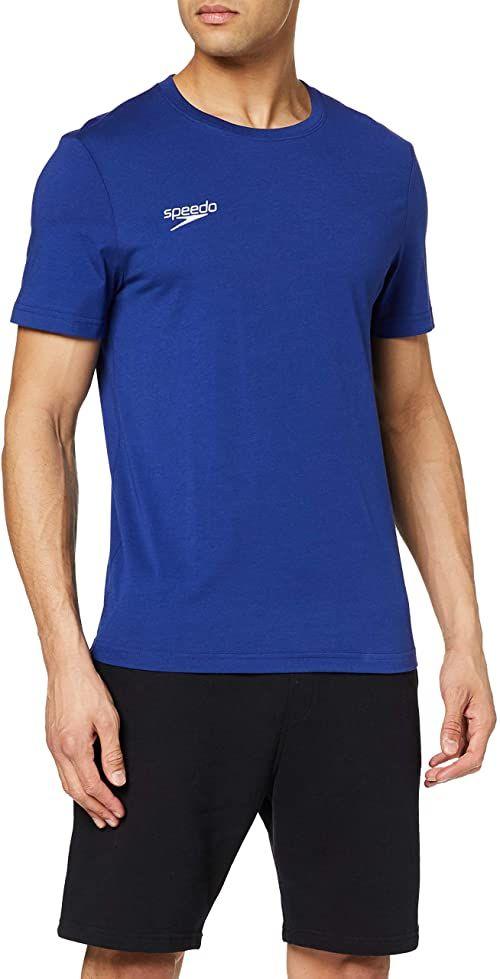 Speedo Męska koszulka Core Team Kit Sml Logo T-Sh Au, niebieska, S