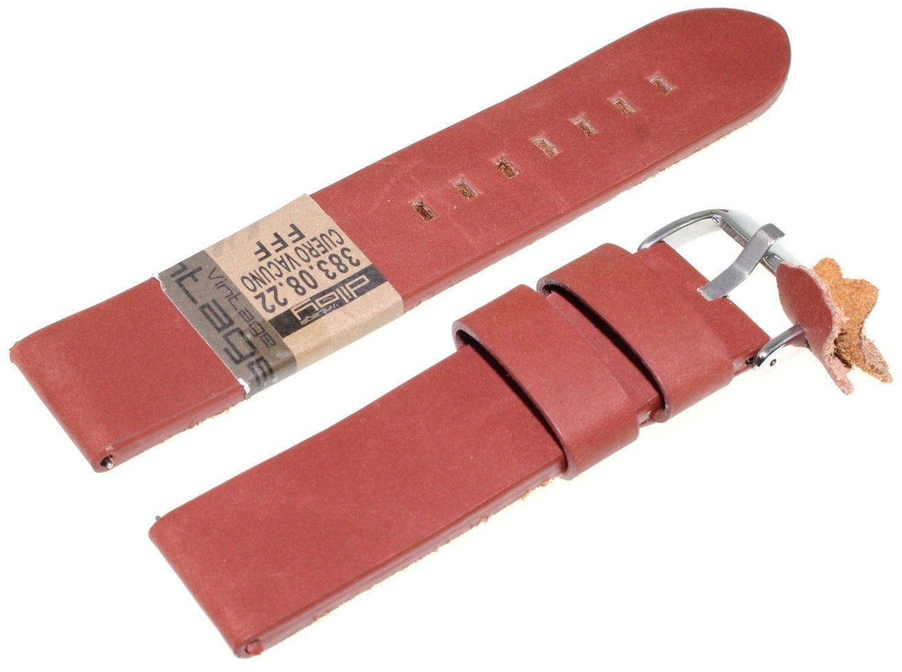 Skórzany pasek do zegarka 22 mm Diloy 383.22.8