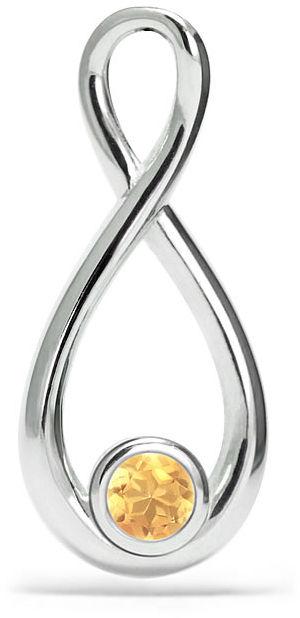 Kuźnia Srebra - Zawieszka srebrna, 20mm, Cytryn, 1g, model