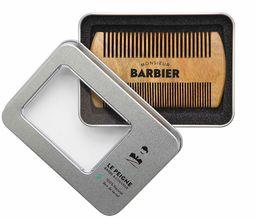 Monsieur Fryzjer męski grzebień z drewna sandałowego do brody / włosów - 100% naturalny