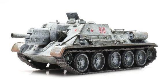 Radzieckie Działo Samobieżne SU 122 zima gotowy model H0 Artitec