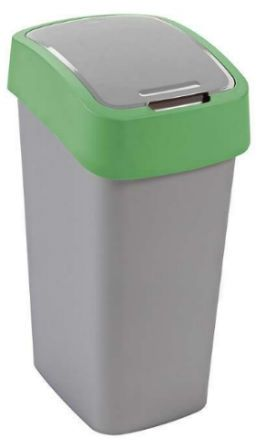 Kosz do segregacji 10 litrów FLIP BIN Curver plastik zielony