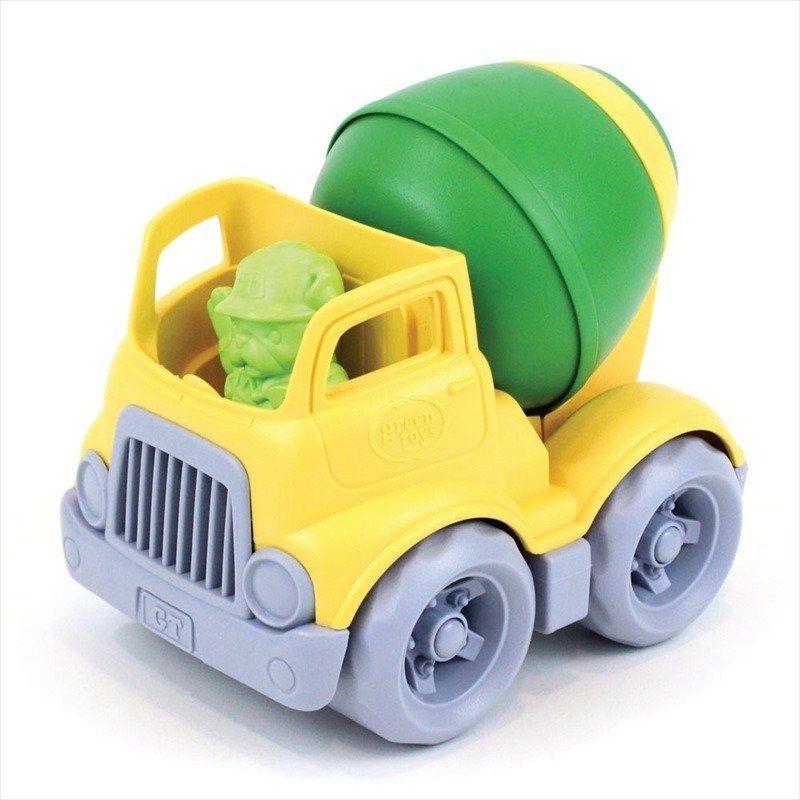 Żółta betoniarka z zieloną gruszką, GTCMXG1263-Green Toys, samochody dla dzieci