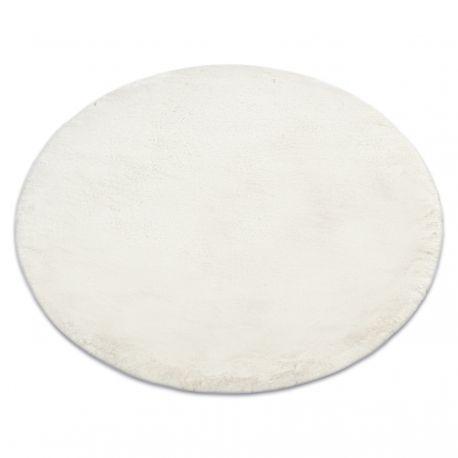 Dywan TEDDY Koło Shaggy beż bardzo gruby, pluszowy, antypoślizgowy, do prania koło 60 cm