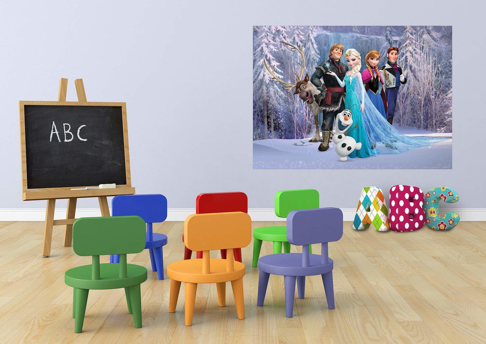 Disney Frozen Fototapeta fototapeta do pokoju dziecięcego, papier, wielokolorowa, 0,1 x 160 x 115 cm