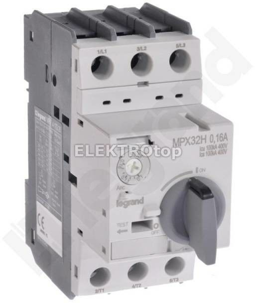 Wyłącznik silnikowy 3P 0,02kW 0,1-0,16A MPX3 32H 417320