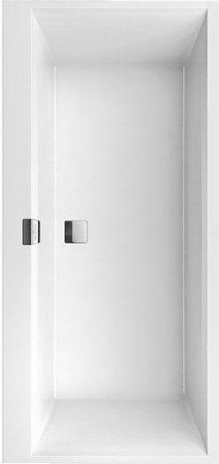 Squaro Edge Duo 12 V&B wanna prostokątna quaryl 1600x750 biała - UBQ 160 SQE 2DV-01 Darmowa dostawa