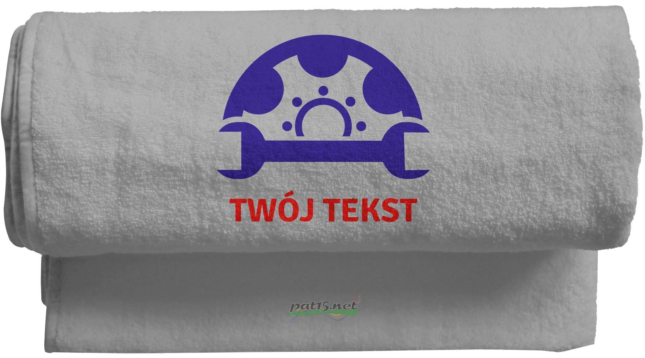 Duży Ręcznik 140x70 z haftem + tekst - Wzór 12