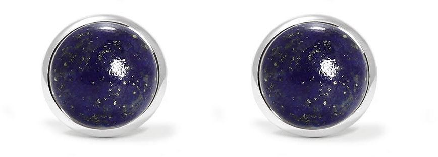 Kuźnia Srebra - Kolczyki srebrne, 16mm, Lapis Lazuli, 2g, model