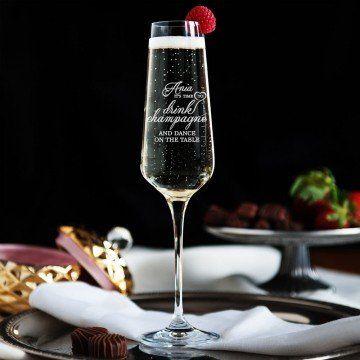 Drink&Dance - Grawerowany Kieliszek do szampana