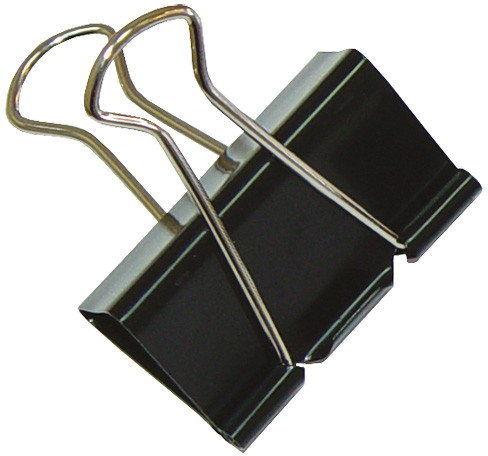 Klips biurowy czarny 32 mm / 12szt