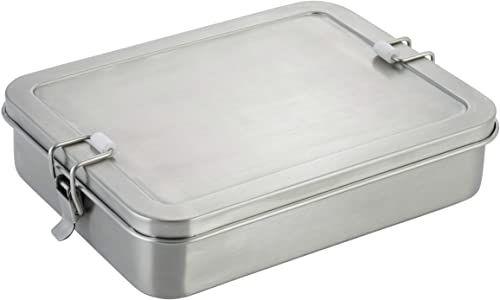 axentia Pojemnik na kanapki ze stali nierdzewnej, srebrny, ok. 21,5 x 4,5 x 16,5 cm