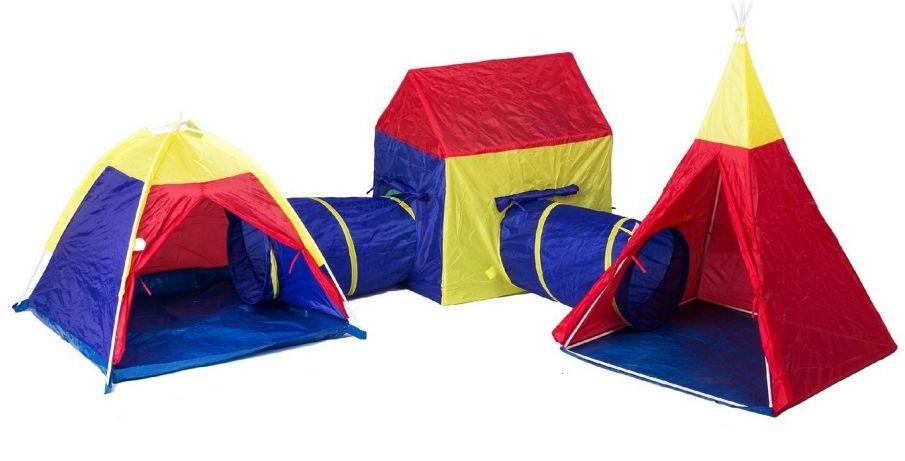 Zestaw namiotów 5 w1, DOMEK, NAMIOT, TIPI ,TUNELE