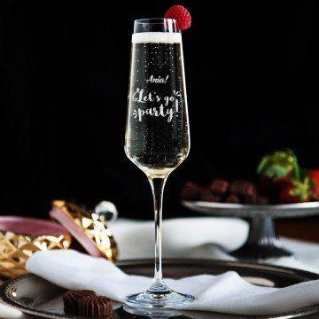 Let s go party! - Grawerowany Kieliszek do szampana