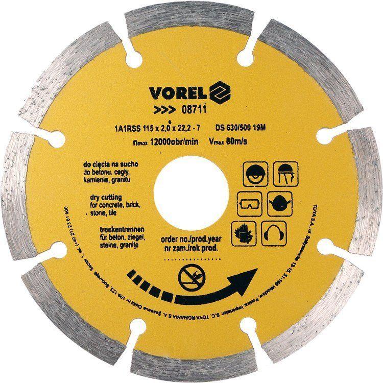 Tarcza diamentowa 115 mm segmentowa Vorel 08711 - ZYSKAJ RABAT 30 ZŁ