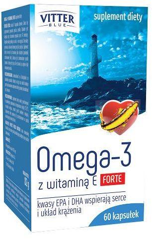 Vitter Blue Omega-3 z witaminą E Forte 60 kaspułek