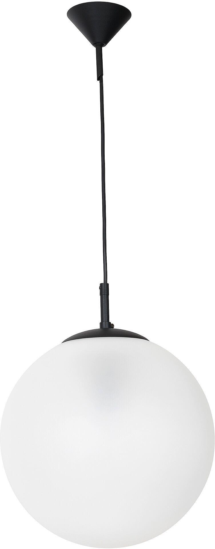 Lampa wisząca GLOBUS 562G6 Aldex czarno-biała oprawa w kształcie kuli