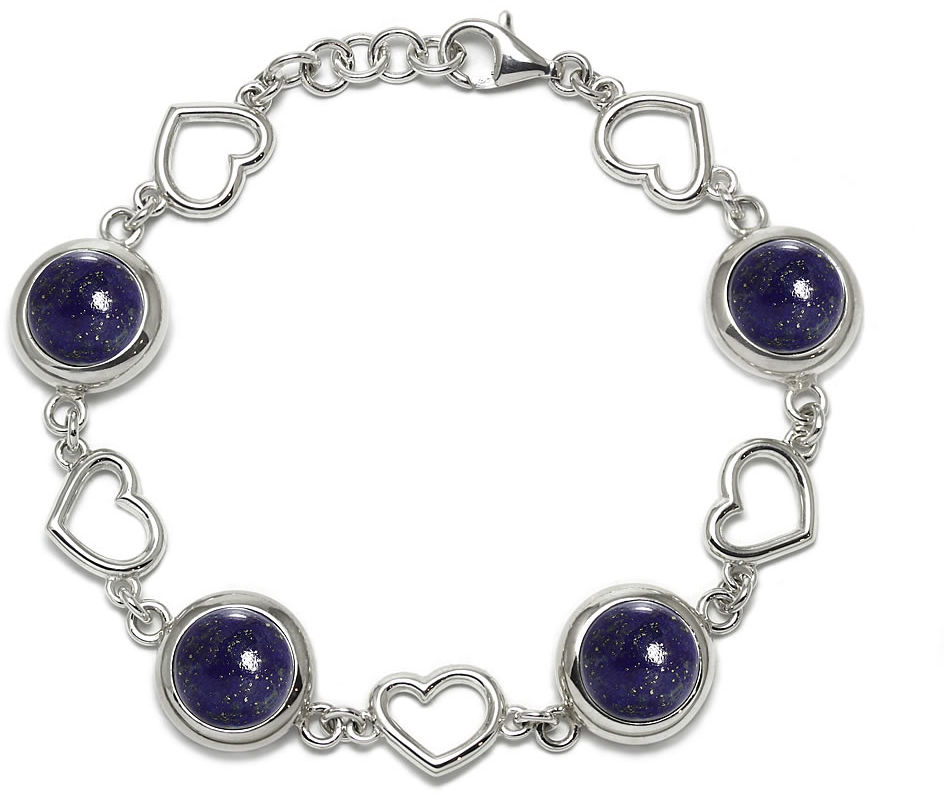 Kuźnia Srebra - Bransoletka srebrna, 18/19cm, Lapis Lazuli, 21g, model