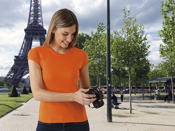 T-shirt koszulka damska krótki rękaw 100% bawełna Paris Valento