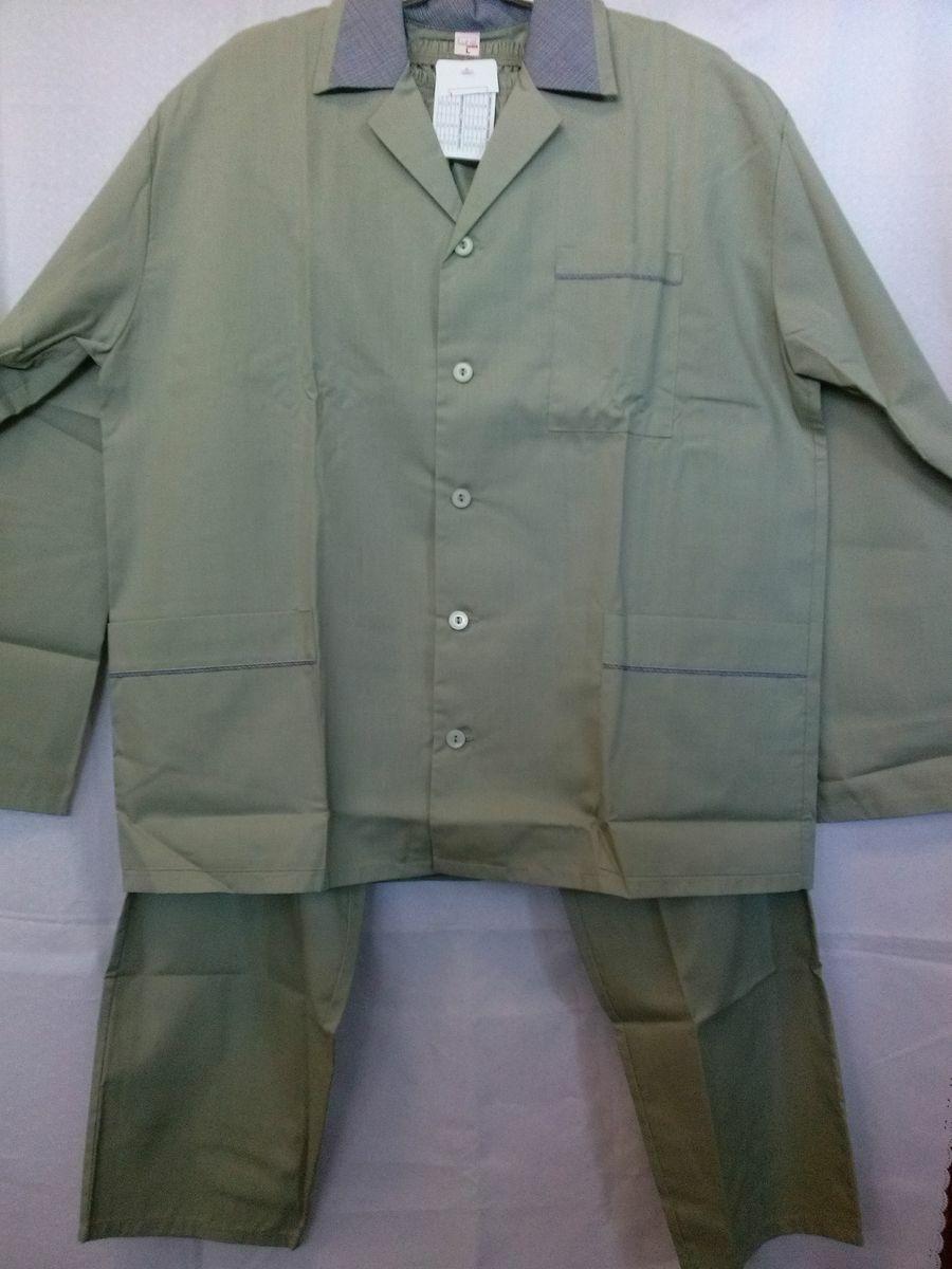 Piżama męska długa Elanobawełna 181 rozmiar L oliwkowa Luna Niska cena!!!
