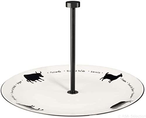 ASA Lignenoire patera do sera, porcelana, biały/czarny, 30 cm