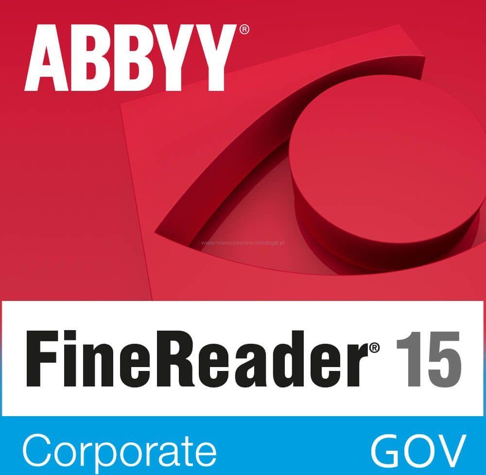 GOV - ABBYY FineReader 15 Corporate (pojedynczy użytkownik) licencja wieczysta - Certyfikaty Rzetelna Firma i Adobe Gold Reseller