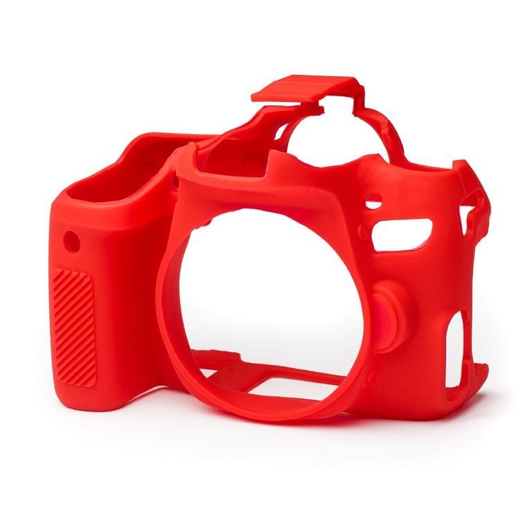 Osłona silikonowa easyCover do aparatów Canon EOS 77D czerwona