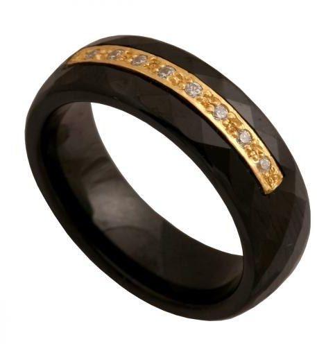 Złoty pierścionek nowoczesny Pn118