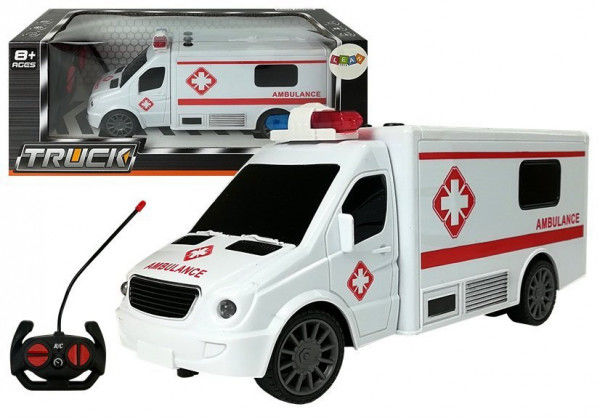 Auto Zdalnie Sterowane R/C Ambulans Dźwięk Światła