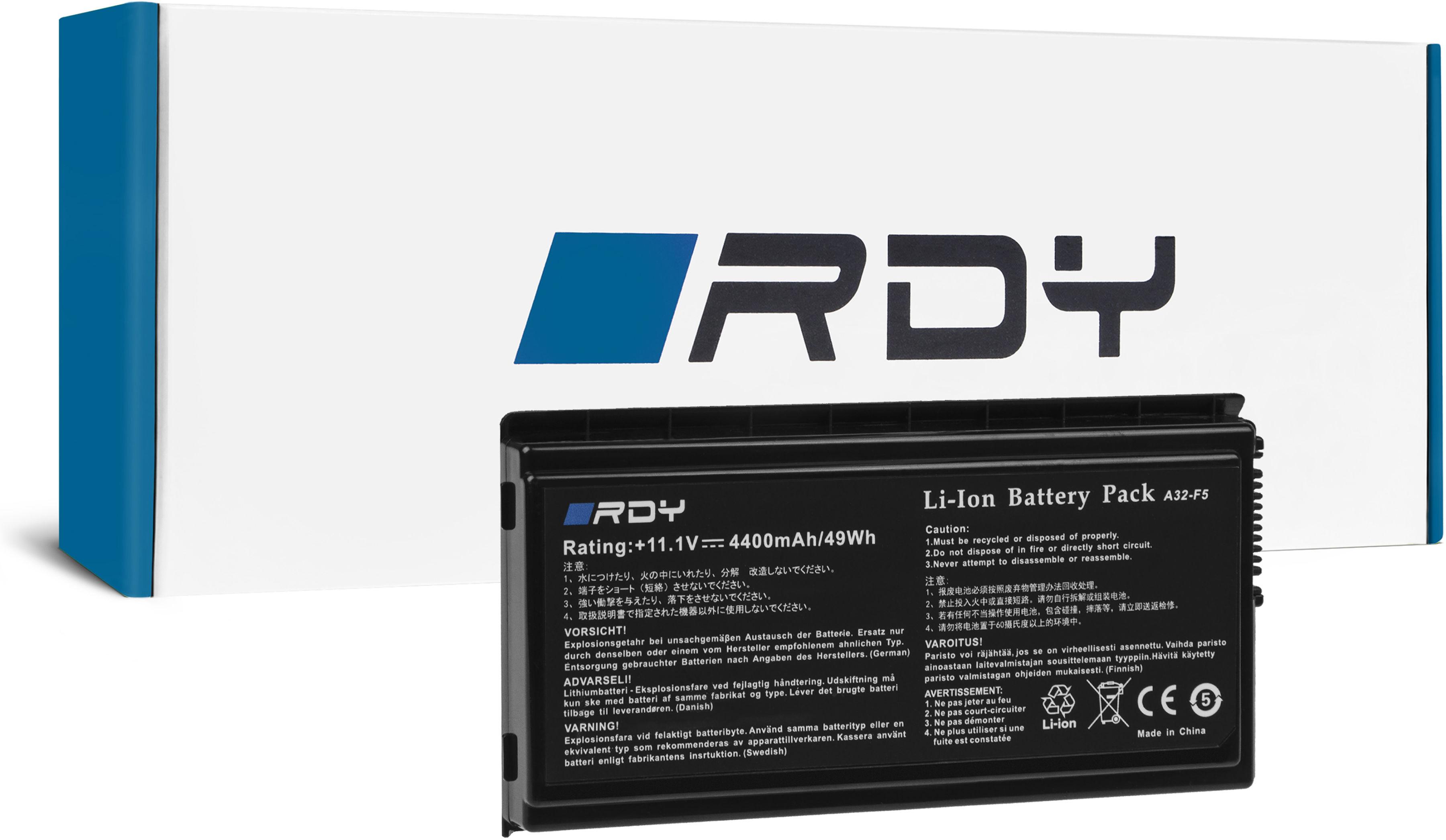 Bateria RDY A32-F5 A32-X50 do Asus F5 F5GL F5N F5R F5RL F5SL F5V X50 X50N X50R