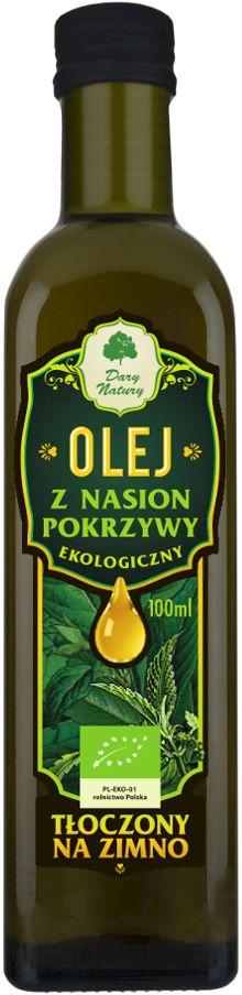 Olej z nasion pokrzywy bio 100 ml - dary natury