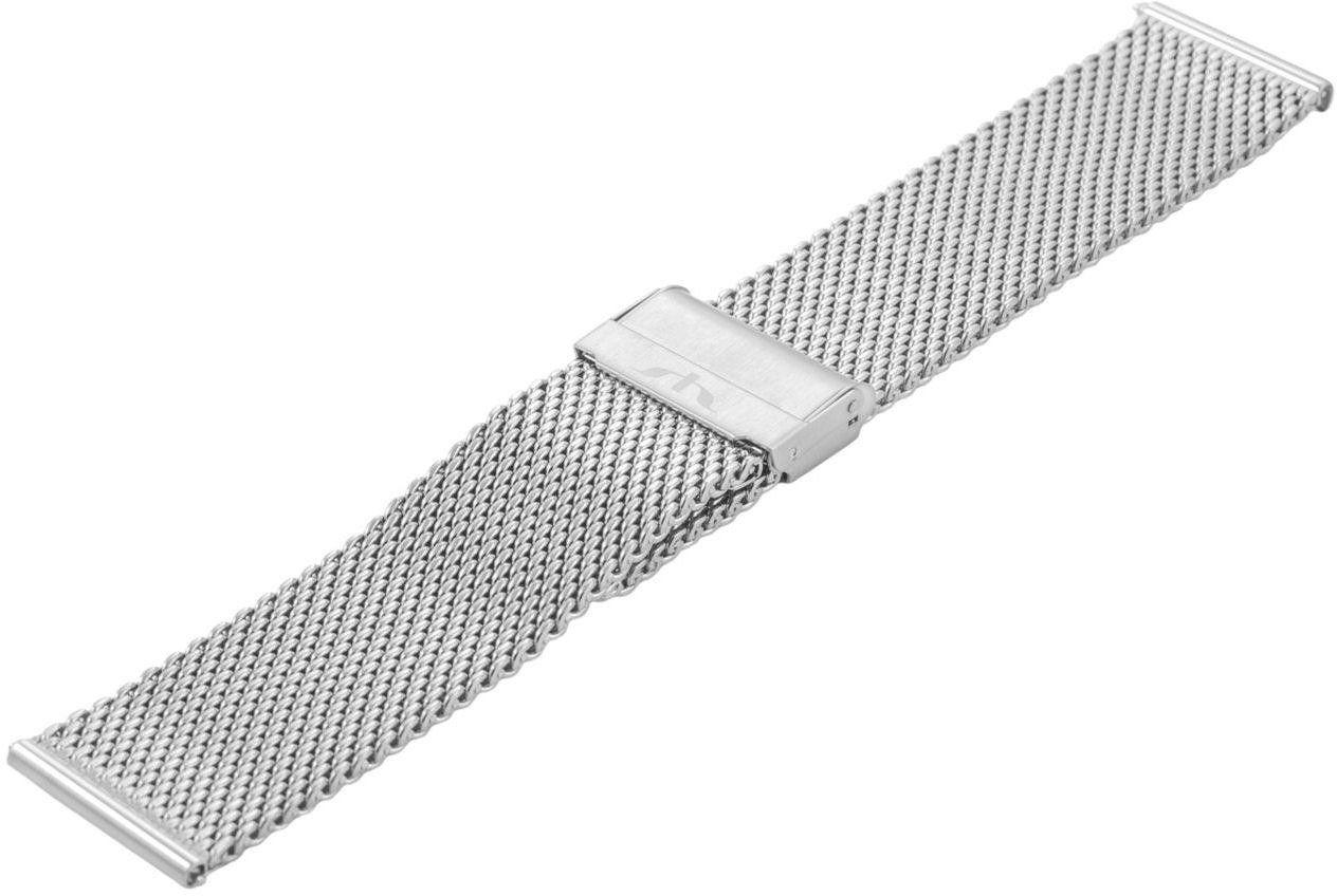 Bransoleta stalowa do zegarka 24 mm Bisset BM-102/24 Silver
