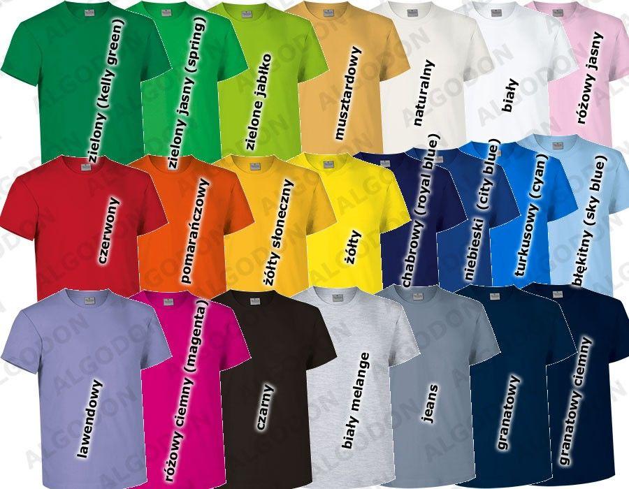 T-shirt koszulka dziecięca gładka czysta gruba bawełna 180 g/m2 Racing podkoszulek na WF W-F