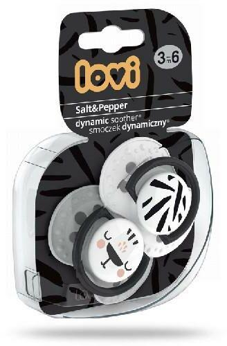 Lovi Salt&Pepper dynamiczny smoczek silikonowy dla dzieci 3-6m 2 sztuki [22/878]