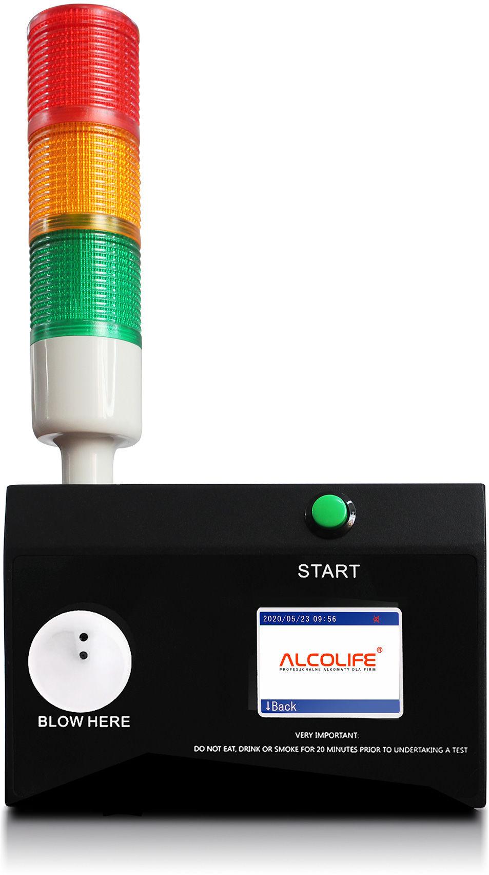Alkomat stacjonarny ALCOLIFE F10 lite, elektrochemiczny, bezustnikowy