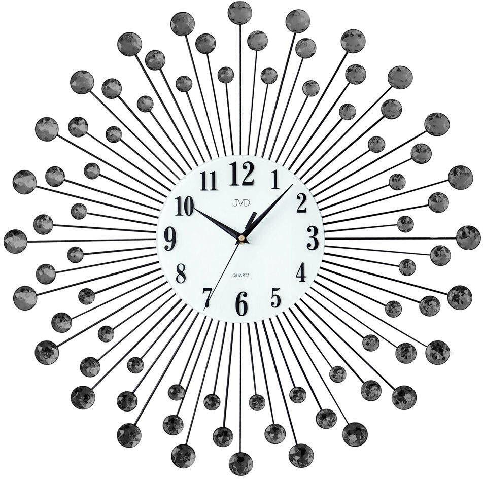 Zegar ścienny JVD HJ23.2 z kryształkami średnica 60 cm