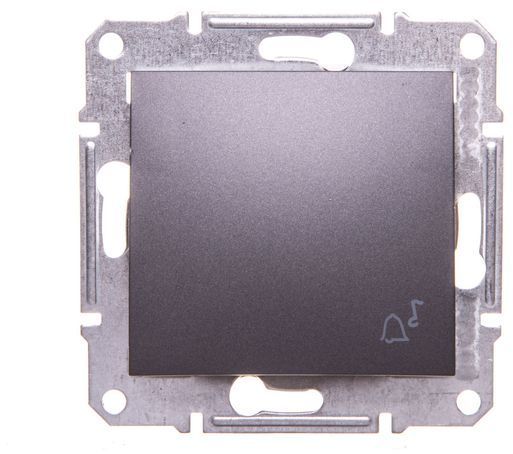 SEDNA Przycisk dzwonek  grafitowy SDN0800170